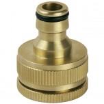 Rýchlospojka na záhradný ventil mosadzná, adaptér na 1'' a